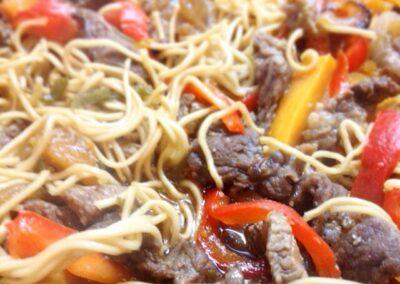 Noodles de carne