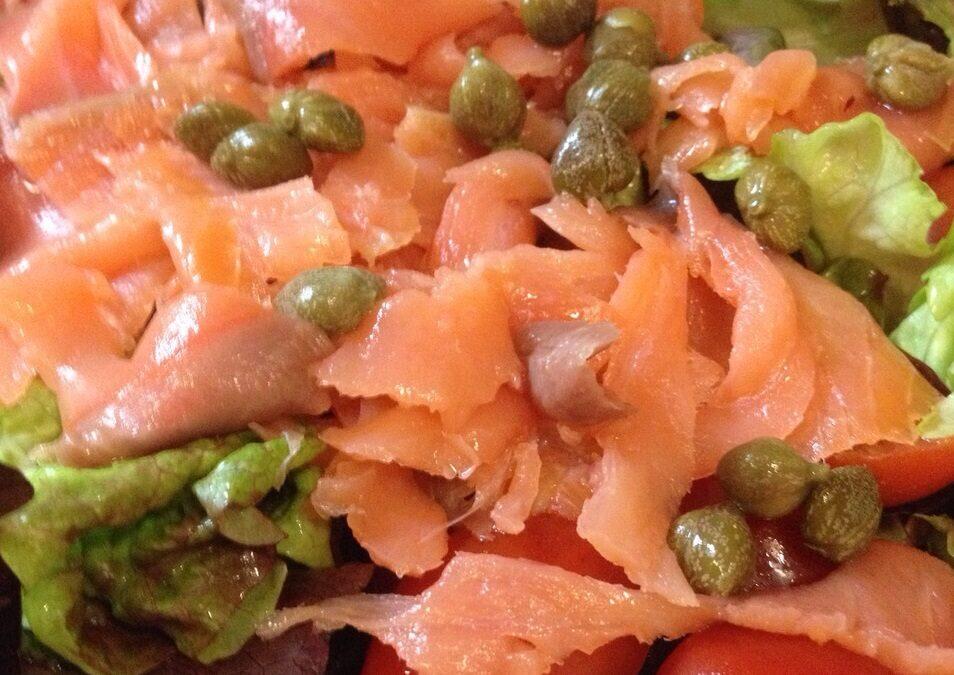 Ensalada de salmón